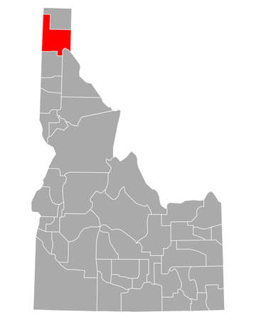 Map of Bonner in Idaho