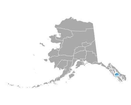 Map of Petersburg in Alaska