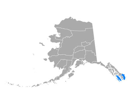 Map of Prince of Wales-Hyder in Alaska