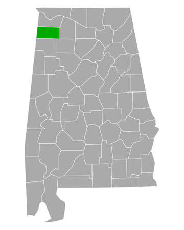 Map of Franklin in Alabama