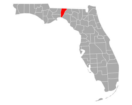 Map of Jefferson in Florida