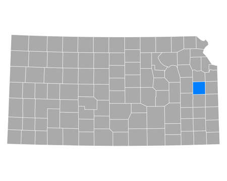 Map of Franklin in Kansas