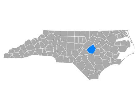 Map of Johnston in North Carolina