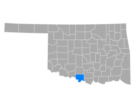 Map of Jefferson in Oklahoma