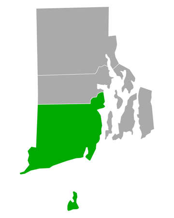 Map of Washington in Rhode Island