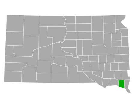 Map of Clay in South Dakota