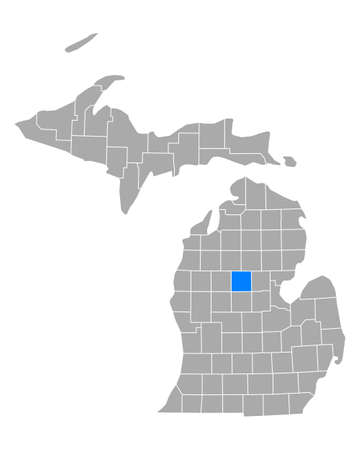 Map of Clare in Michigan