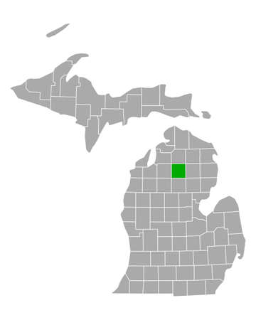 Map of Crawford in Michigan