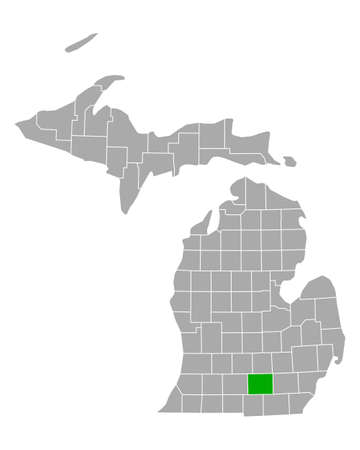 Map of Jackson in Michigan