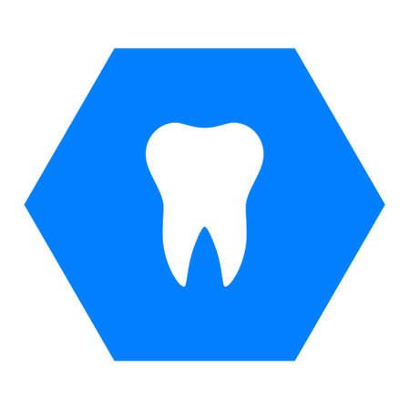 Tooth and hexagon Vector Illustratie