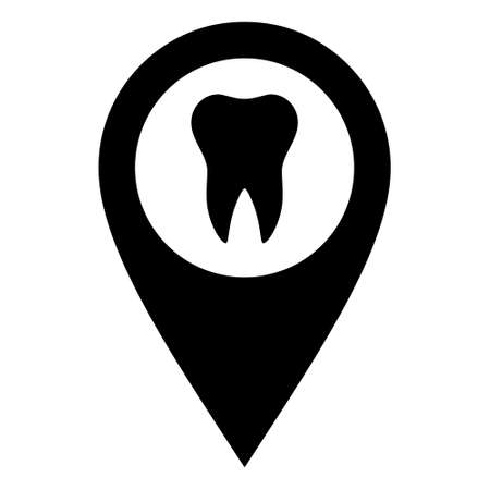Tooth and location pin Vector Illustratie