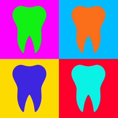 Tooth and pop art