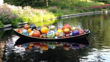 Float Boat, Chihuly At New York Botanical Garden, Bronx, Ny