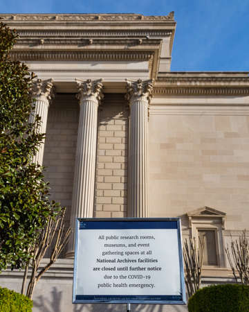 Washington, DC, USA, 14th March, 2020. Smithsonian Museums and National Monuments Close Due to Coronavirus Pandemic