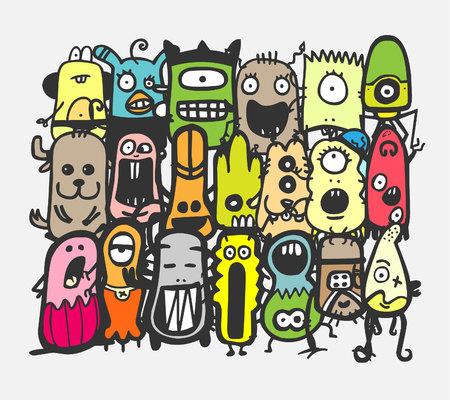Monster. Vector illustration. Illustration
