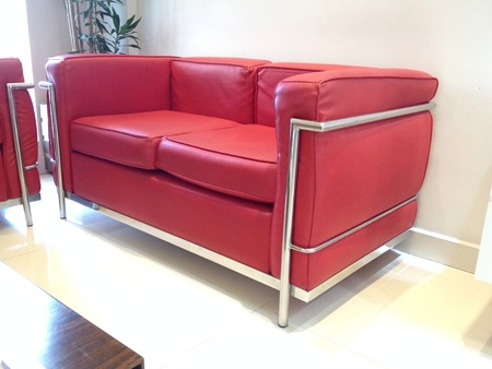 couch: Sofa Couch, red