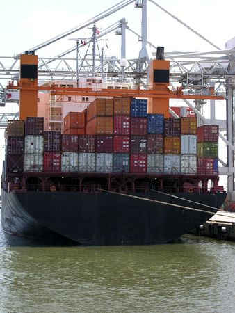 tonnage:           containership Stock Photo