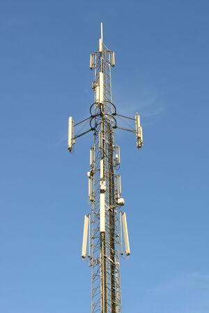 the antennae:           telephone antennae Stock Photo