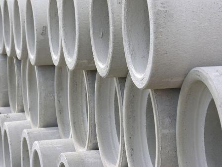 concrete tubes Stock Photo