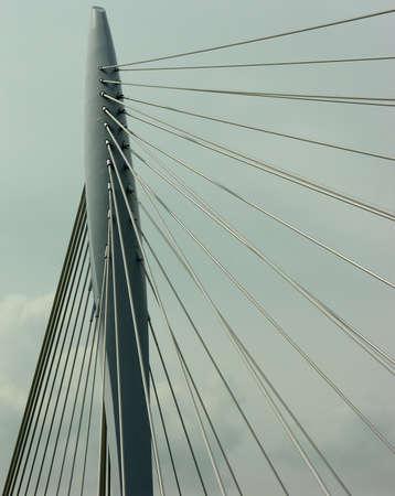 Detail of a suspension bridge Reklamní fotografie