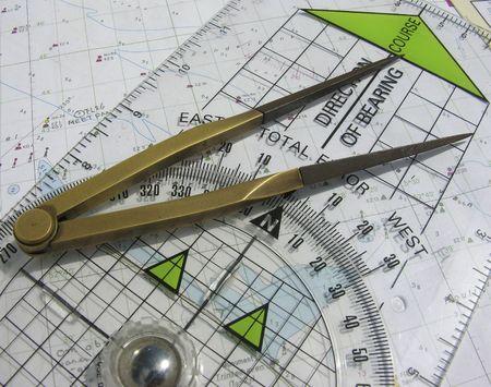 navigation course Reklamní fotografie - 247532
