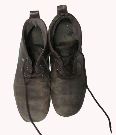 old isolated shoes