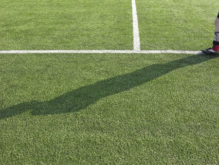 shadow on a soccer field