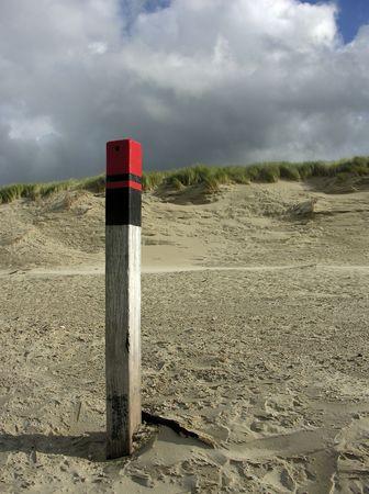 pole on the beach Reklamní fotografie - 258781