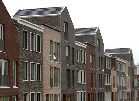 townhomes: new houses Stock Photo