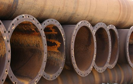 corrode: steel pipes Stock Photo