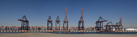 seafreight: terminal de contenedores  Foto de archivo