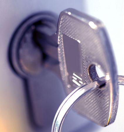 key in a lock Reklamní fotografie - 3457863