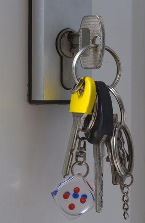 keys in a lock Reklamní fotografie - 3457864