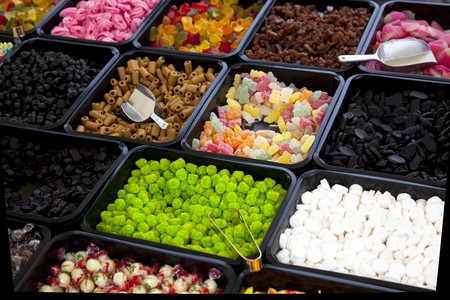 goodies: candy store on a dutch market