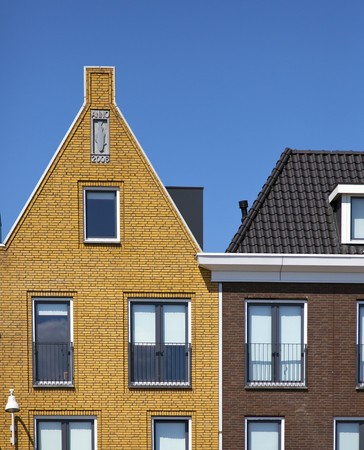 new houses with blue sky