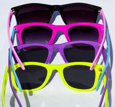 glamur: a few collorful sun glasses Stock Photo