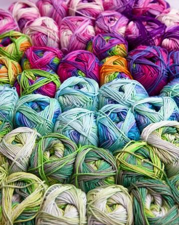 yarn on the market Reklamní fotografie
