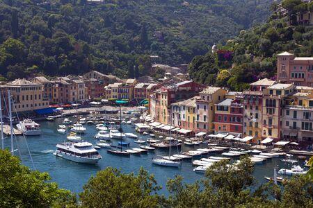 colofull harbour of portfino italy