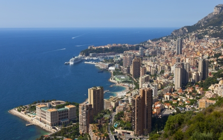monaco: a view over the harbour of monaco