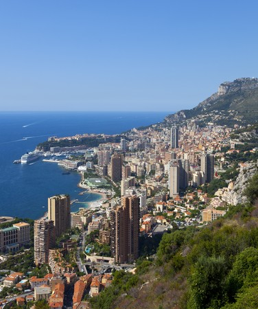 a view over the harbour of monaco photo