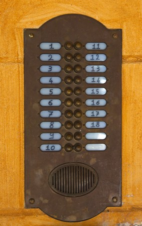 bells and intercom from a italian appartment Stock Photo - 7524929
