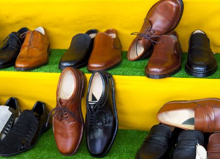 shoes on a italian market photo