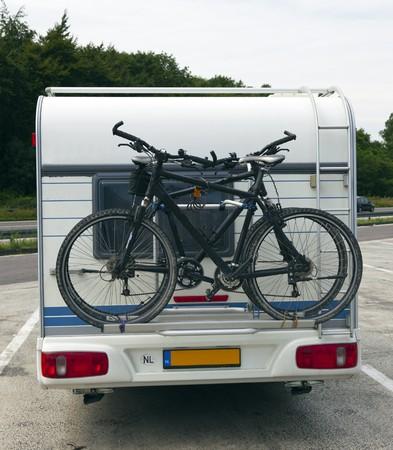 bicycles on the back of a caravan Reklamní fotografie - 7561865