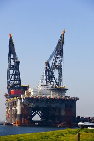 shiprepair: crane in the harbour of rotterdam
