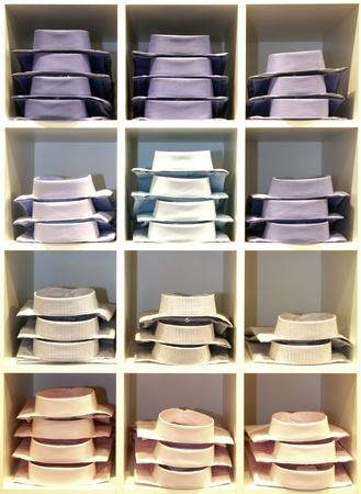 fold: shirts in a shop