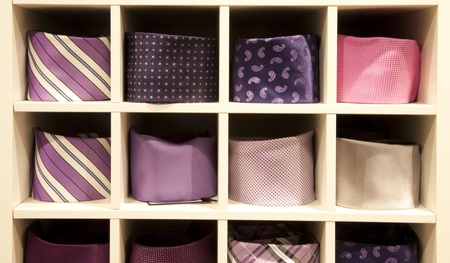 neck ties in a shop Stock Photo - 9284559