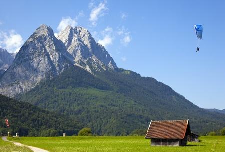 výhled na Zugspitze Reklamní fotografie