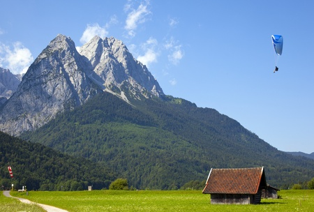 view over the zugspitze Stock Photo