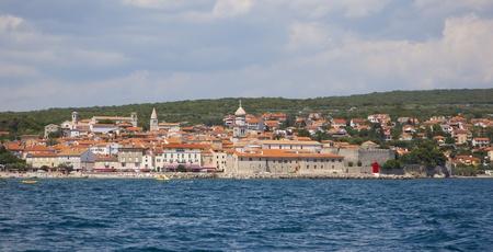 krk: view over krk, croatia Stock Photo