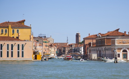 traditional houses in venice italy photo